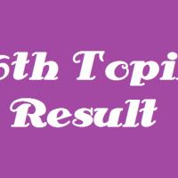My 36th Topik result.